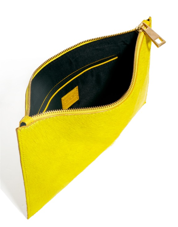 ASOS Yellow Leather Clutch